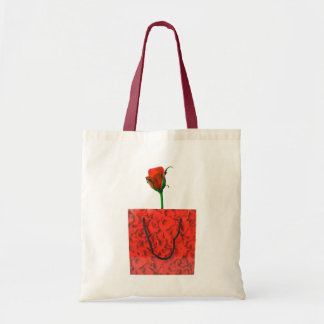 Gift rose tote bag