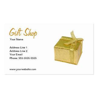 Gift Shop Business Card Template