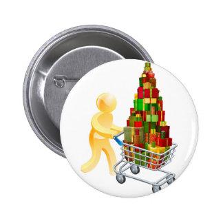Gift shopper concept buttons
