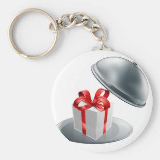 Gift silver tray luxury platter basic round button keychain