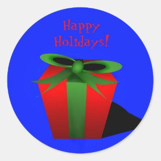 Gift Sticker - Blue