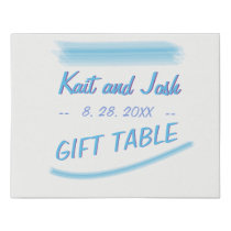 Gift Table Sign Minimalist Soft Ambiance Blue