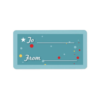 Gift Tag - Blue Custom Address Label