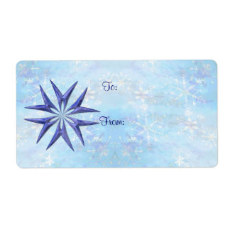 GIFT TAG BLUE STAR by SHARON SHARPE