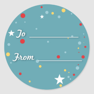 Gift Tag - Blue Sticker