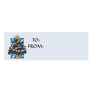 Gift Tag Double-Sided Mini Business Cards (Pack Of 20)