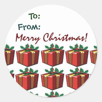 Gift Tag  ChristmasSticker Classic Round Sticker