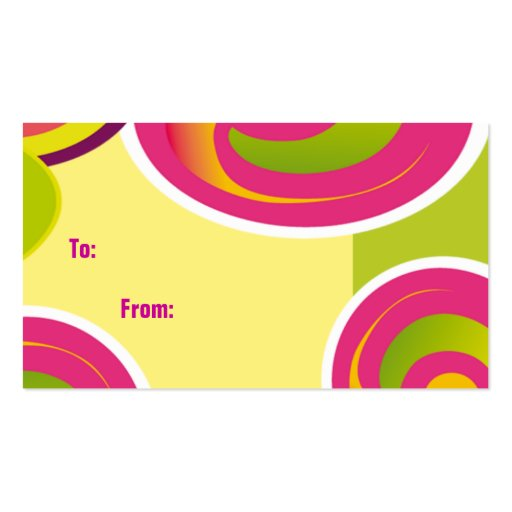 Gift Tag.Colorful Circles Business Card