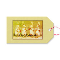 Gift Tag EASTER BUNNY PLAYING INSTRUMENTS