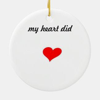 Gift tag for valentines present ceramic ornament