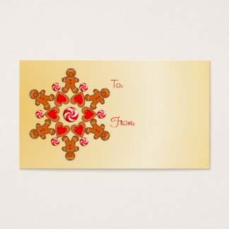 GIFT TAG GINGERBREAD BOY by SHARON SHARPE