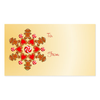 GIFT TAG GINGERBREAD GIRL by SHARON SHARPE Double-Sided Standard Business Cards (Pack Of 100)