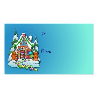 GIFT TAG GINGERBREAD HOUSE by SHARON SHARPE Double-Sided Standard Business Cards (Pack Of 100)
