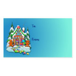 GIFT TAG GINGERBREAD HOUSE by SHARON SHARPE Business Cards