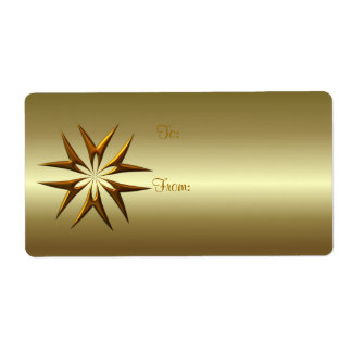 GIFT TAG GOLD STAR by SHARON SHARPE