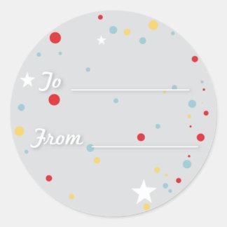 Gift Tag - Grey Round Sticker