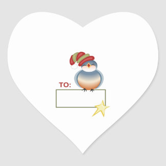 GIFT TAG HEART STICKER