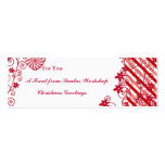 Gift tag insert for spa gifts,baked goods  flowers Double-Sided mini business cards (Pack of 20)