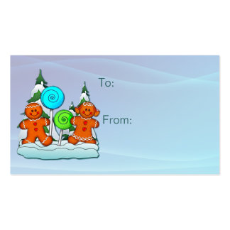 GIFT TAG KIDS AND LOLLIPOPS by SHARON SHARPE Double-Sided Standard Business Cards (Pack Of 100)