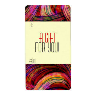 Gift Tag Label Template To/From Customizable