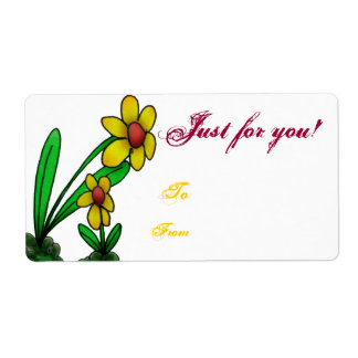 Gift Tag Label Template To/From Three Little Flowe