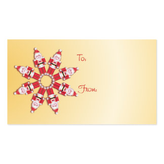 GIFT TAG NUTCRACKER WHEEL by SHARON SHARPE Double-Sided Standard Business Cards (Pack Of 100)