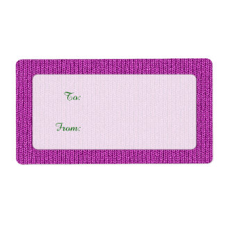 Gift Tag - Orchid Knit Stockinette Stitch Pattern Label