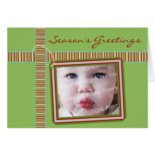 Gift Tag Photo Template Holiday Card