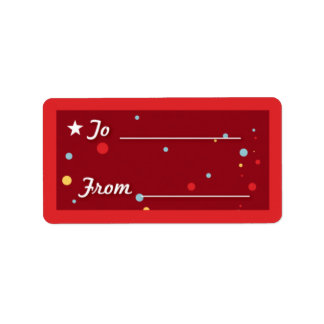Gift Tag - Red Personalized Address Label