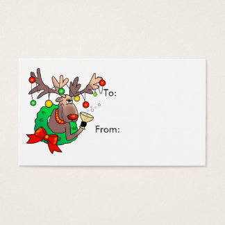 GIFT TAG REINDEER by SHARON SHARPE