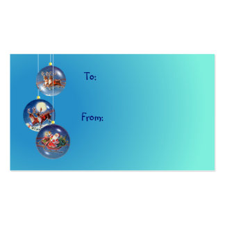 GIFT TAG SANTA & REINDEER by SHARON SHARPE Double-Sided Standard Business Cards (Pack Of 100)