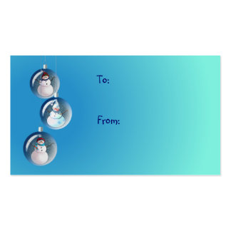 GIFT TAG SNOWMAN by SHARON SHARPE Double-Sided Standard Business Cards (Pack Of 100)
