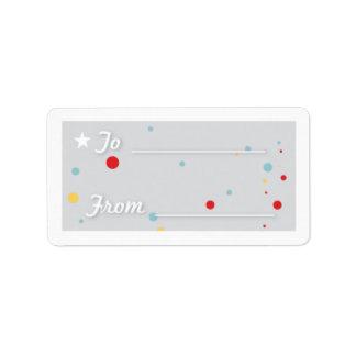 Gift Tag - White Custom Address Label