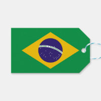 Gift Tag with Flag of Brazil
