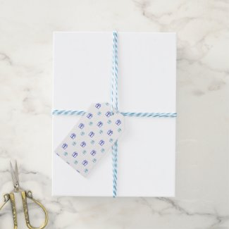 Gift Tag With Gift Pattern Pack Of Gift Tags