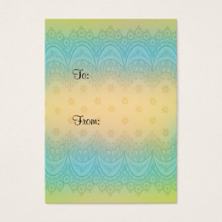 Gift tag with pastel flower design