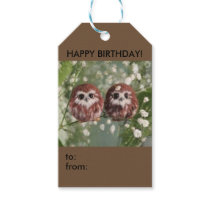 Gift tag with two owelets