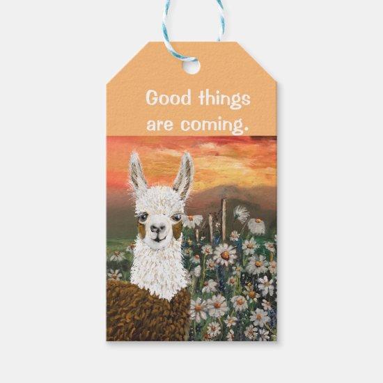Gift Tags Good Things Are Coming Mama Llama