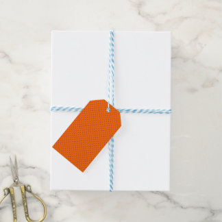 Gift Tags Orange with Royal Blue Dots
