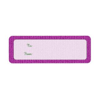 Gift Tags - Orchid Knit Stockinette Stitch Pattern