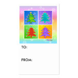 Gift Tags - Pop Art Christmas Trees Business Cards
