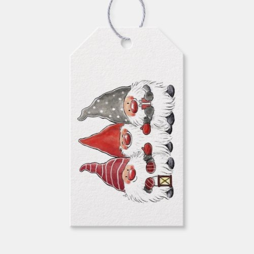 Gift Tags - Three Christmas Gnomes