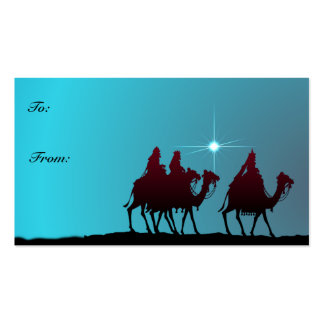GIFT TAGS WISEMEN & STAR by SHARON SHARPE Double-Sided Standard Business Cards (Pack Of 100)