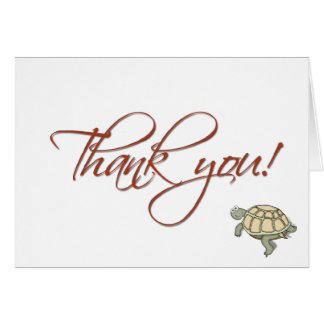 gift thank you turtle card