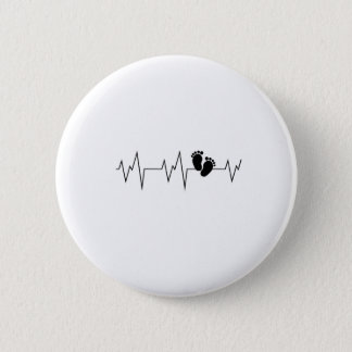 Gift Twins  New Twin Mom Dad Heart Heartbeat Button