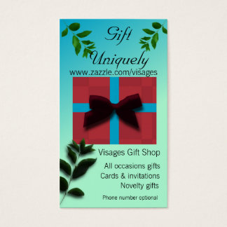 Gift Uniquely Gift Shop Classy Business Card