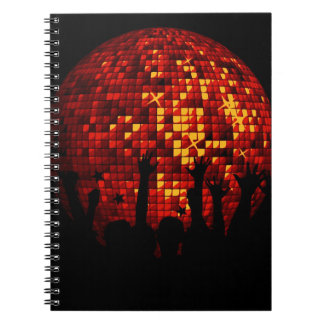 Gift with dancing crowd notebook