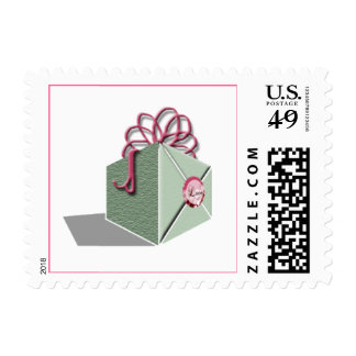 Gift With Love Wedding Postage Stamp