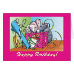 Gift Wrap Birthday Greeting Card