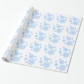 Gift Wrap - Blue Snowflakes